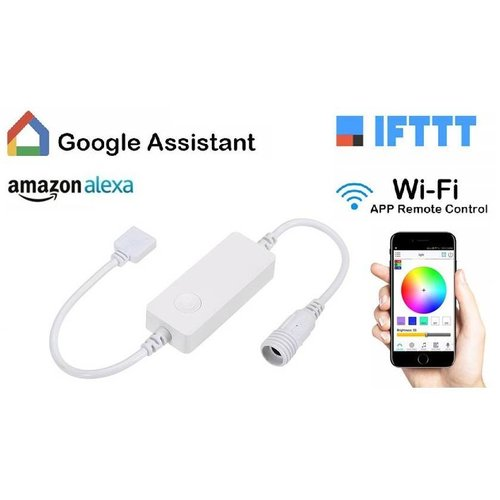 Avrena Smart RGB LED strip controller voor WiFi, Amazon Alexa, Google Assistant, IOS, Android App.