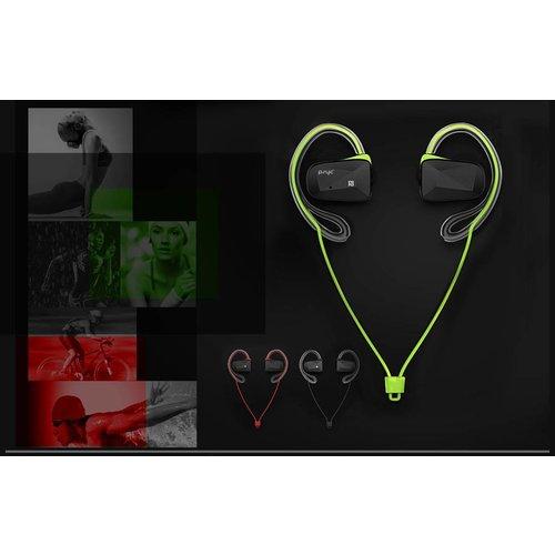 PSYC Elise SX, draadloze sport headset met bluetooth, rood