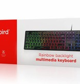 Gembird Gembird KB-UML-01 Rainbow Multimedia toetsenbord met Backlight