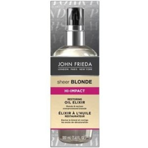 John Frieda John Frieda Sheer Blonde High Impact Reviving Oil – 14x5x3cm | Olie Elixer voor Over behandeld Dof Haar | Herlevende en Vitaliserende Olie voor Geblondeerd of Gehighlight haar