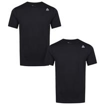 Reebok Maat L 2 pack heren performance sport T-shirt - Zwart