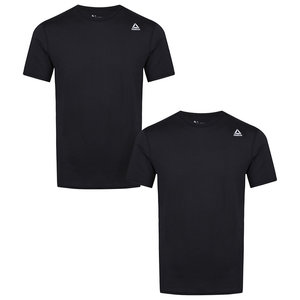 Reebok Reebok Maat XL 2 pack heren performance sport T-shirt - Zwart