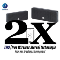LeSenz Pocket TWS  stereo bluetooth  speakerset met 2 speakers