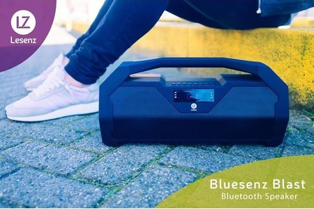 Lesenz Blast Powerfull Wireless Bluetooth Speaker - Zwart