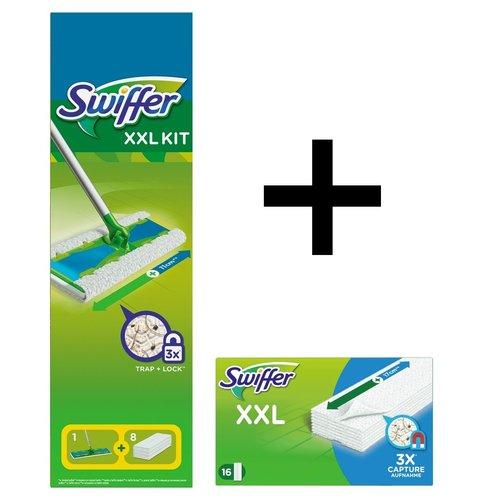 Swiffer Swiffer Sweeper Vloerdoekjes - XXL Starterkit Deluxe met 24 navullingen