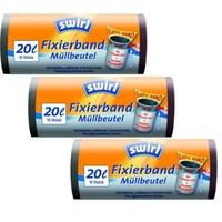 Swirl Afvalzakken Fixeerband 20 LITER Multipack 3 x 15 zakken