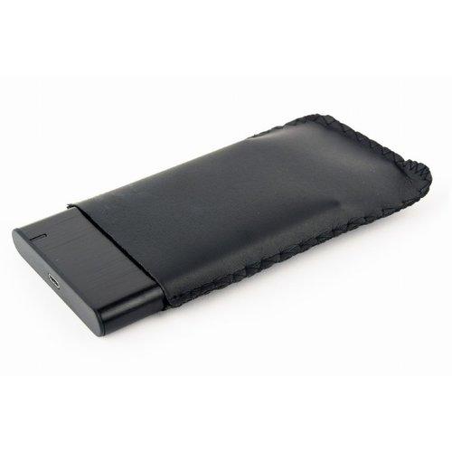 "Gembird Gembird 2.5"" SATA HDD/SSD behuizing met USB type-C poort, geborsteld aluminium, Zwart"