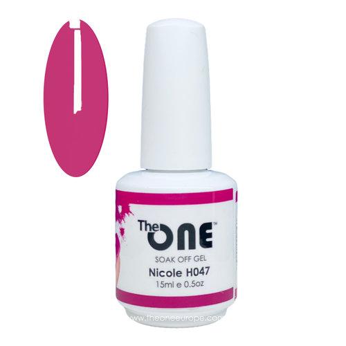 The One The One Pro Gellak 15ml - kleur Nicole Rood H047