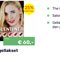 Weekaanbieding THE ONE Valentine Pro Color set geldig t/m 24-02-2021