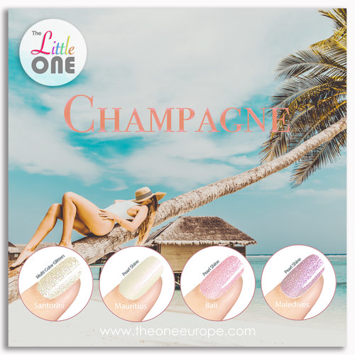 The One Champagne Color Set LED/UV Gellak 7ml