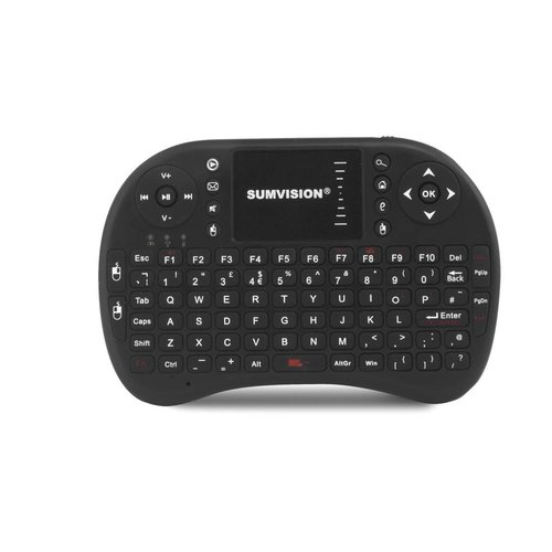 Sumvision Nico draadloos toetsenbord + muis multimedia touchpad zwart