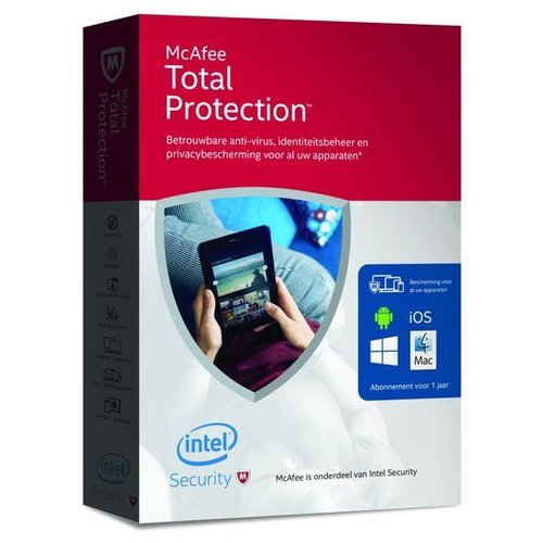 McAfee Total Protection 2016 - Nederlands / Onbeperkt aantal Apparaten 1 Jaar / Windows / Mac / Android / IOS