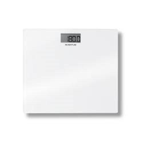 Digitale weegschaal, tot 180 kg, per 100 gram, step on-techniek, wit glas