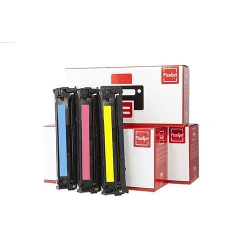 Pixeljet Pixeljet HP 304A toner 3 stuks (CC531,CC532,CC533) (Cyaan, Magenta, Geel)