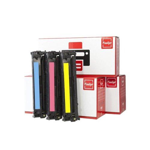 Pixeljet Pixeljet HP 124A toner 3 stuks (Q6001-Q6002-Q6003) (Cyaan, Magenta, Geel) | Pixeljet