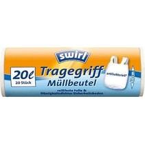 Swirl pedaalemmerzakken met handvatten antibact.20ltr 1 rol van 20 stuks