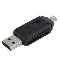 Avrena OTG Micro USB kaartlezer voor PC en Mobiele telefoon