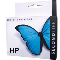 SecondLife vervangende inkt cartridge zwart voor HP type HP 300