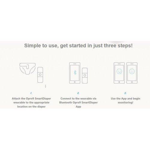 Opro9 Smart Diaper, Slimme Luier voor Smartphone
