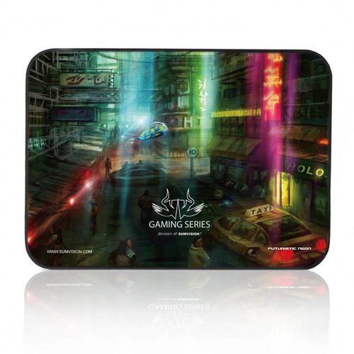 Sumvision Nemesis Gaming Mousepad muismat Neon, Waterproof, Anti Slip
