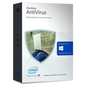 McAfee McAfee AntiVirus - Nederlands / 1 Apparaat / 1 Jaar / Windows, Gratis verzending