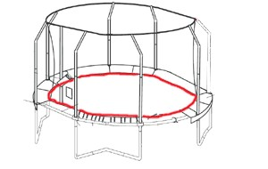 Bâton G3 inférieur du JumpPOD Oval 460