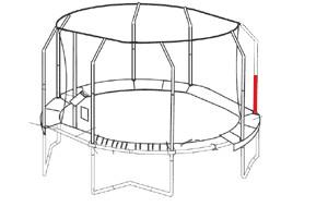 Pôle inférieur du filet du JumpPOD Oval 350