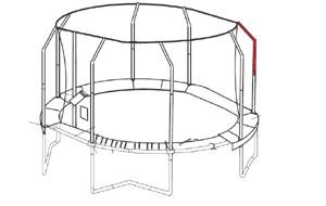 Bovenpaal net voor JumpPOD Oval 460