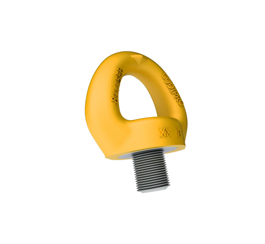 Lifting eye with single twist for fall protection.