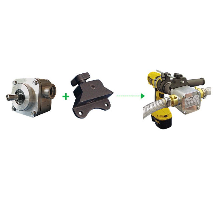 Bohrmaschine angetriebene Pumpe