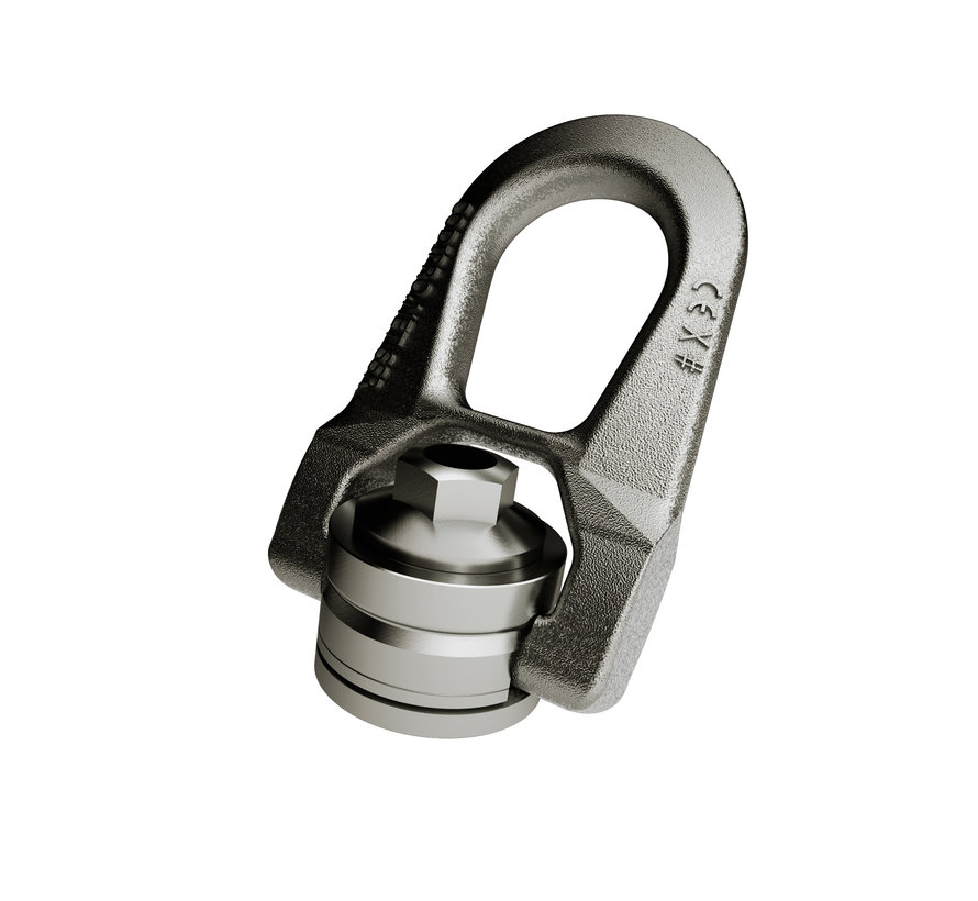 Stainless steel lifting nut with double twist.
