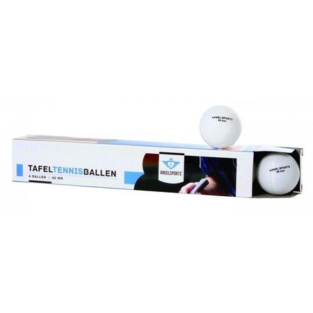 Angel Sport Angel Sports tafeltennisballen TTC kunststof 40 mm wit 6 stuks