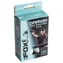 Fox TT tafeltennisballen Darwin 3 Star 40 mm wit 6 stuks