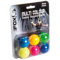 Fox TT tafeltennisballen Multi Colour 40 mm 6 stuks