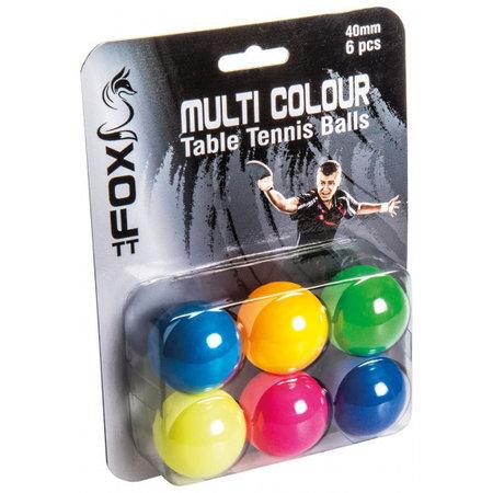 Fox TT Fox TT tafeltennisballen Multi Colour 40 mm 6 stuks