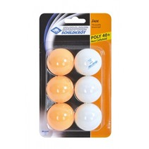 Donic Schildkröt tafeltennisballen oranje/wit 6 stuks