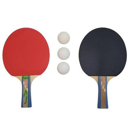 Tunturi Tunturi tafeltennisset Match 2 sterren zwart/rood 5-delig