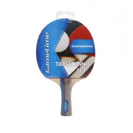 Gametime Gametime tafeltennisbat 25 cm hout/rubber blauw/grijs