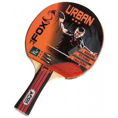Fox TT Fox TT tafeltennisbat Urban 3 Star 25,5 cm Zwart Rood