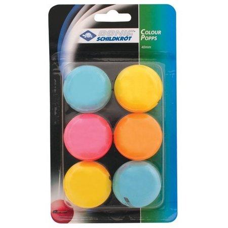 Donic Schildkröt Donic Schildkröt tafeltennisballen multicolor 6 stuks