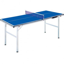 Fox TT tafeltennistafel mini 150 cm hout/staal blauw 6-delig
