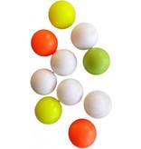 FAS FAS Voetballen 10 stuks - Tafelvoetballen - Geel / Oranje / Wit