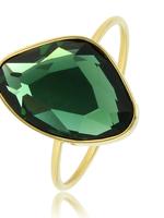 My Bendel Gouden Ring met Groene Steen
