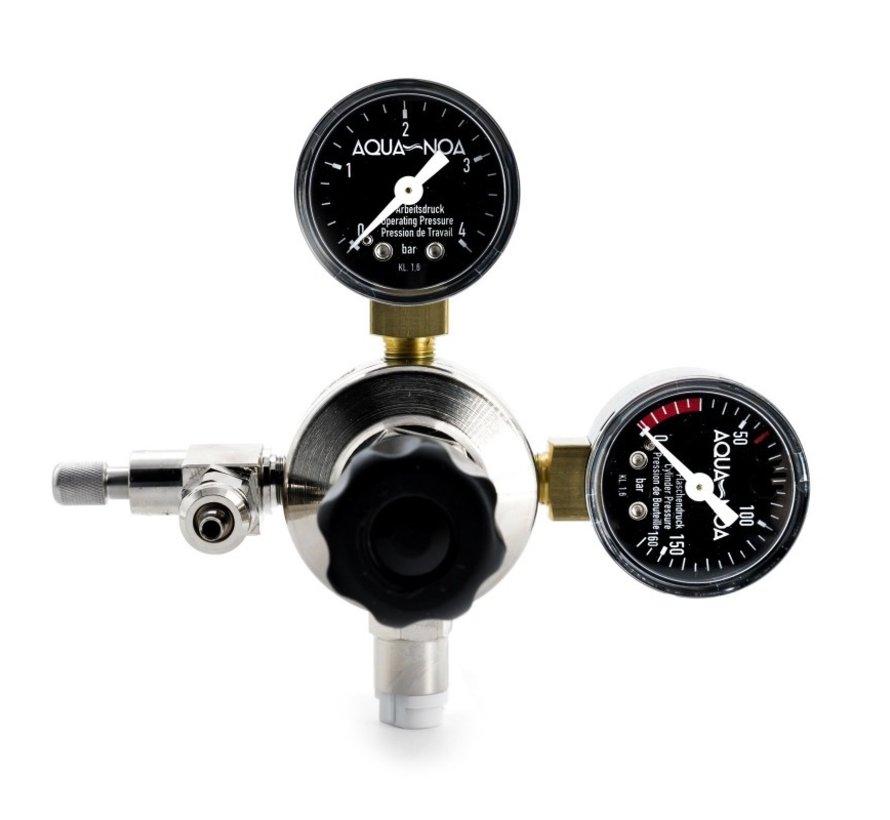 Aqua-Noa CO2 drukregelaar PROFI met 2 manometers en naaldventiel