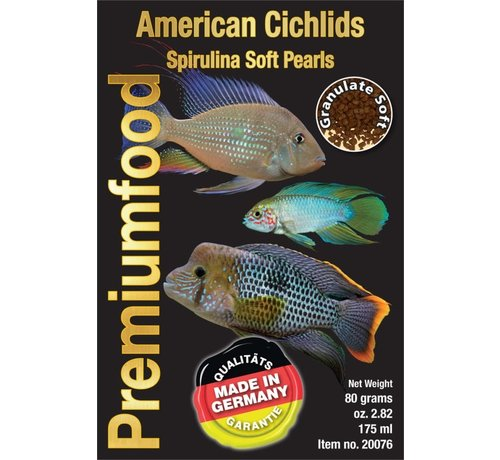 Discusfood Discusfood American Cichlid Spirulina Pearls (80 gram)