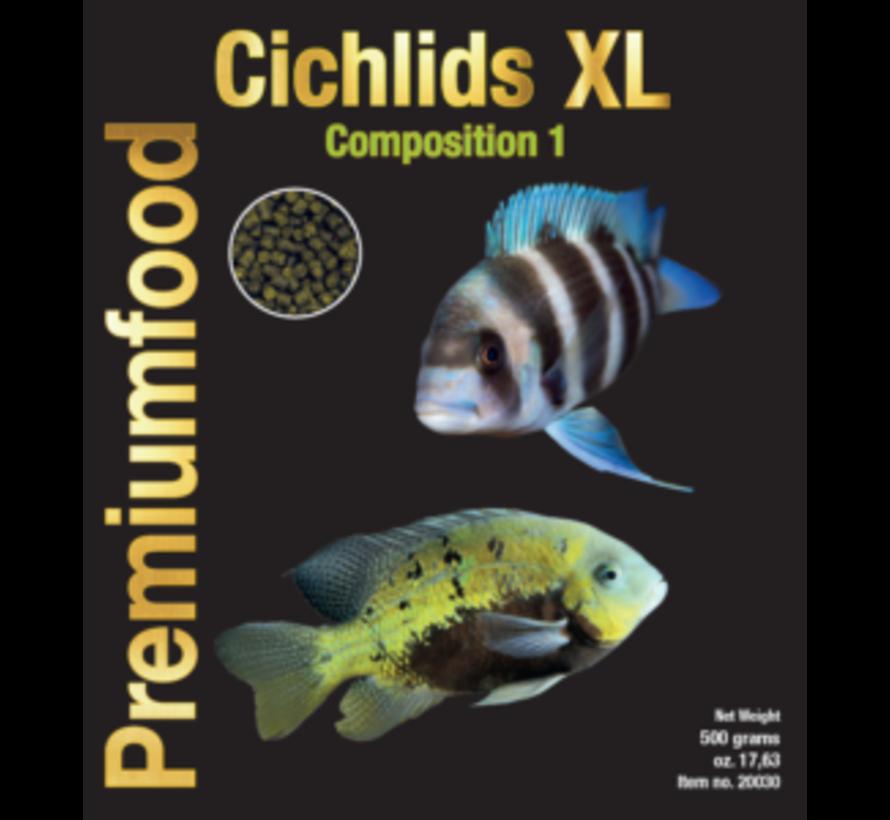Discusfood Cichlids XL granulaat Nr1 - Herbivoor (500 gram)