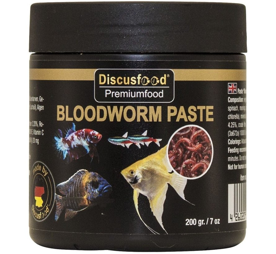 Discusfood Paste Bloodworm (200 gram)