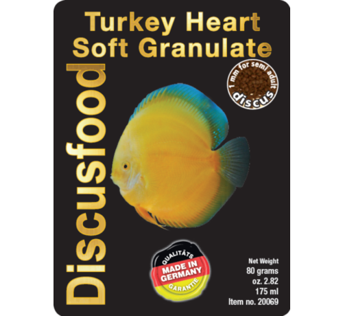Discusfood Discusfood Turkey Heart Soft Granulat (80 of 230 gram)