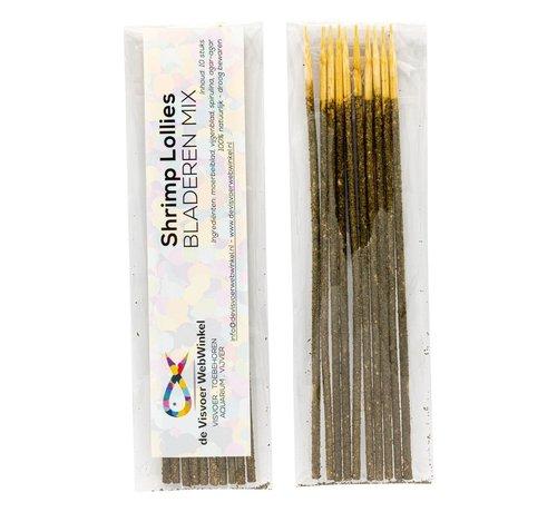 de Visvoer WebWinkel Garnalen Lollies bladeren mix 10 stuks