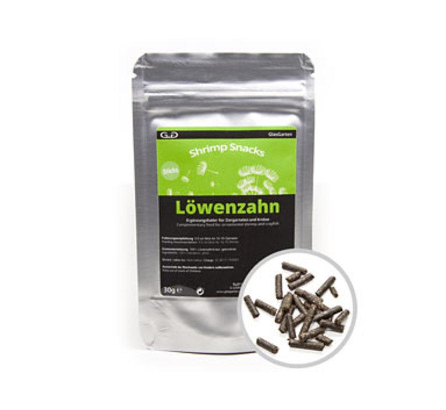GlasGarten Shrimp Snacks Löwenzahn - Paardebloem (30 gram)